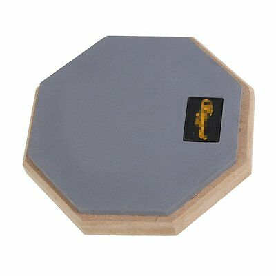 Dumb Drum Soft Rubber Double Side Practice Pad Grey and Black 6""