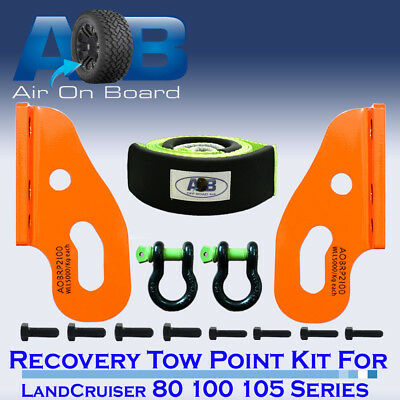 Recovery Tow Points Kit Toyota LandCruiser 80 100 105 Bridle Strap SHACKLES 4x4