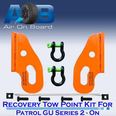 Recovery Tow Points Kit for Nissan Patrol GU Series 2, 3, 4, 5 ON with Shackles