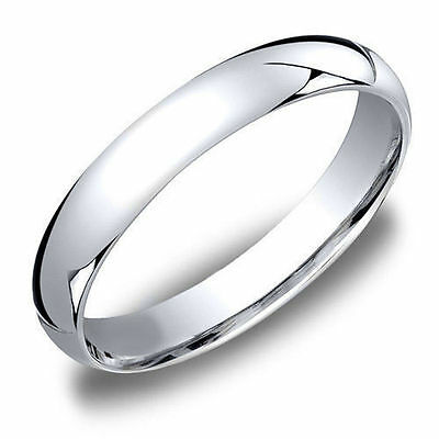 WEDDING BAND RING 14k White Gold Sterling Silver Men's/Women's