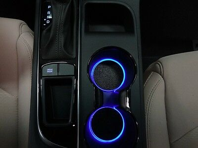 Led Cup Holder Lights Blue Leds Fits 2017 Hyundai Sonata Custom Mods