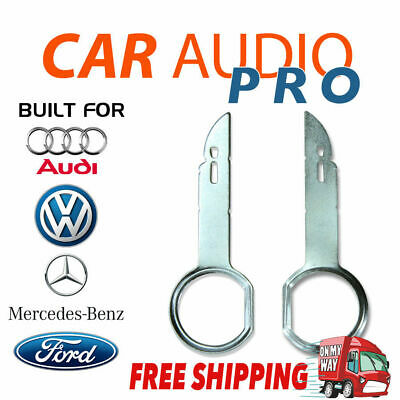 2 x RADIO REMOVAL TOOLS for AUDI MERCEDES VOLKWAGEN VW FORD car stereo radio key