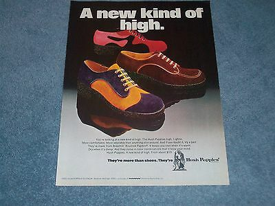 """1972 Vintage Hush Puppies Shoes Ad """"A New Kind of High."""""""