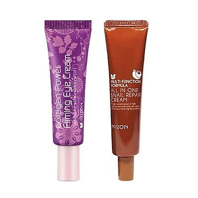 [MIZON] [1+1] Collagen Eye Cream Tube 10ml + All In One Snail Cream Tube 35ml
