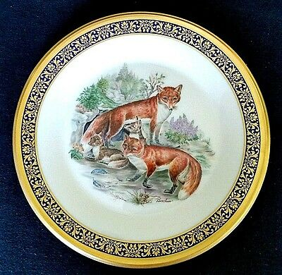 Lenox Woodland Wildlife Boehm Red Fox 1974 Cabinet Plate