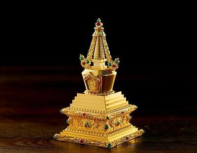 Copper alloy plating stupas / buddhist temple/Buddhist supplies stupa - Minisize