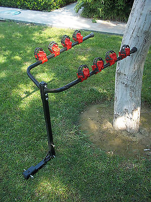 """Hitch Mount Bike Carrier Rear Rack Car For 2"""" & 1-1/4"""" Receivers --- 4 Bicycles"""