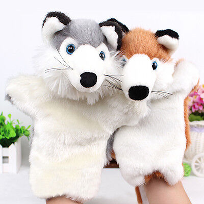 Story Learning Baby Kids Children Zoo Plush Toy Cute Animal Hand Glove Puppets