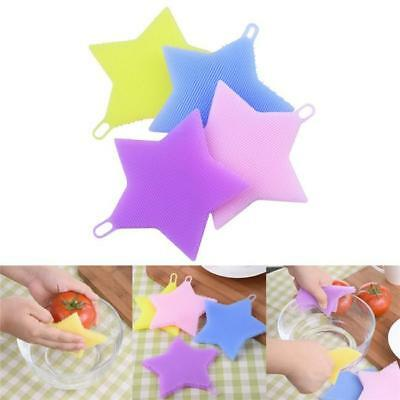 Star Silicone Fruits Vegetables Bowl Kitchen Scrubber Protect Cleaning Brush B