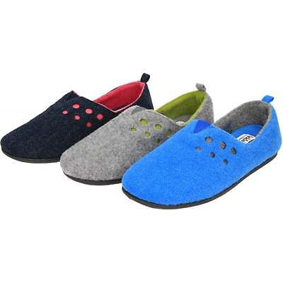 11d045c32858 Padders Riva Dual Extra Wide Fitting Washable Felt Slippers Comfort Slip On  Warm