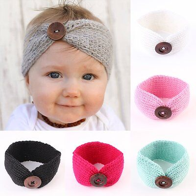 Cute Kids Baby Girls Toddler Knit Turban Hair Band Headwear Headband Accessories