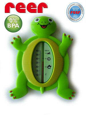 BATHTUB THERMOMETER 100% BPA FREE Shower Bath REER Safety FROG TURTLE MADE IN EU