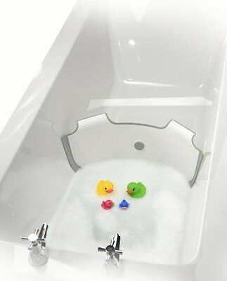 ** NEW ** BabyDam Bathwater Barrier | Baby Bath Tub | White/Grey