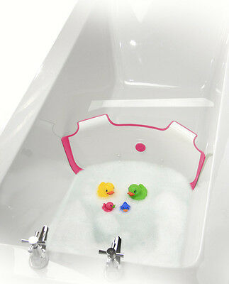 ** NEW ** BabyDam Bathwater Barrier | Baby Bath Tub | White/Pink