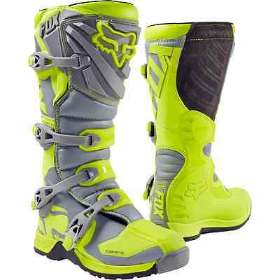 2017 Fox Racing Mens Comp 5 MX Motocross Boots Yellow/Grey