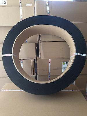 """StraPack Polyester Strapping 1/2"""" Black 7,200' Coil Band Pallets $35 Plus Ship"""