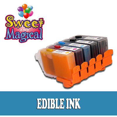5 PACK EDIBLE INK CARTRIDGES PGI-250CLI-251 for Canon PIXMA MG6620 MG5620 MG5520