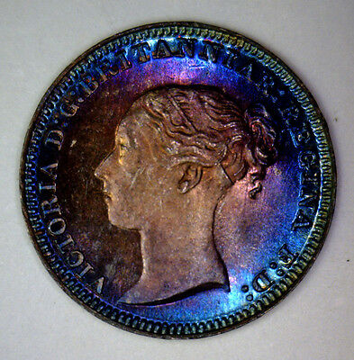 1880 One Penny MAUNDY Great Britain ~ Gem BU PL Prooflike ~ Awesome Toning PQ