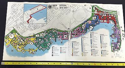 1986 Montreal Expo Fold-Out Site Map Excellent Cond!! Mra2