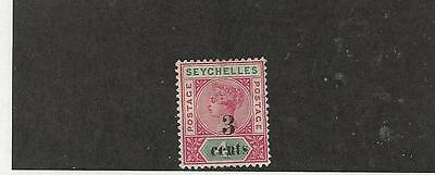 Seychelles, British, Postage Stamp, #22 Mint Hinged, 1893