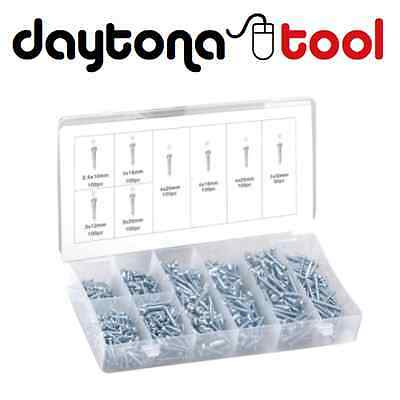 750pc PHILLIPS HEAD POINTED TIP SELF-TAPPING WOOD/METAL SCREW VARIETY ASSORTMENT