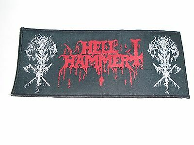 Hellhammer Black Metal Woven Patch