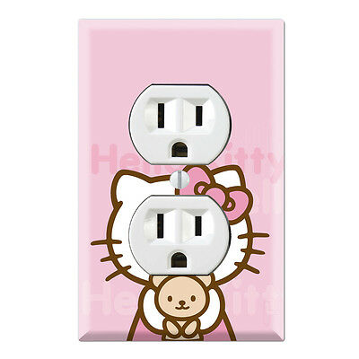 Hello Kitty Bear Decorative Duplex Receptacle Outlet Wall Plate Cover HK04