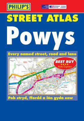 Philip's Street Atlas Powys: Pocket by Philip's Paperback Book The Cheap Fast
