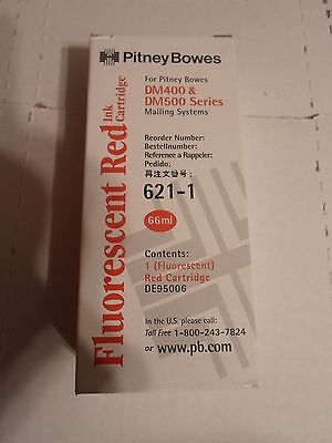 NEW GENUINE PITNEY BOWES RED INK CARTRIDGE 621-1 for DM400 & DM500