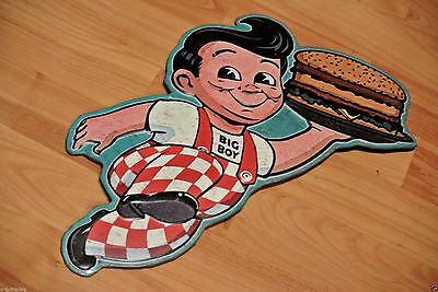 Bobs Big Boy Vintage Look Tin Metal Sign Diner Man Cave Hamburger - New!