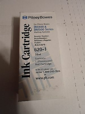 NEW GENINE PITNEY BOWES RED INK CARTRIDGE 620-1 for DM400 & DM500