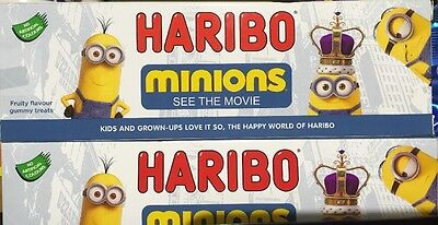 2 X 120g HARIBO MINION Fruity Flavour Gummy Treats