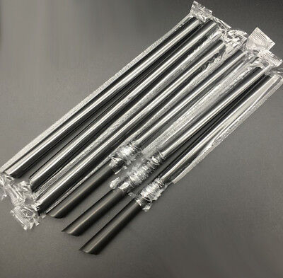 Hot 100pcs Giant Drinking Straws Bubble Pearls Tea Party Drink Smoothie Straws