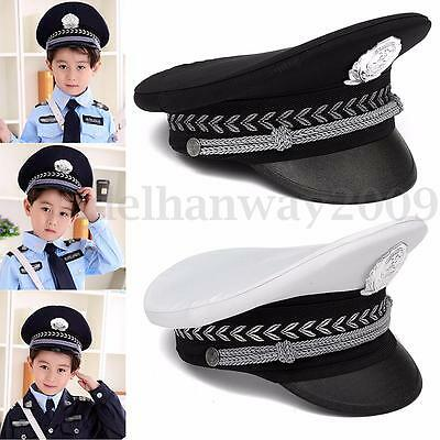Child Teenage Police Policeman Officer Cap Hat Fancy Dress Costume Accessory