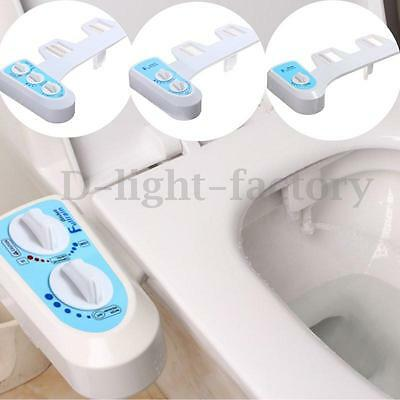 Nozzle Hot Cold Water Spray Non-Electric Bidet Bathroom Toilet Seat Attachment N