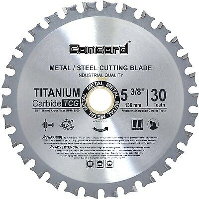 Concord Blades MCB0538T030HP 5-3/8-Inch 30 Teeth TCT Ferrous Metal Cutting Bl...