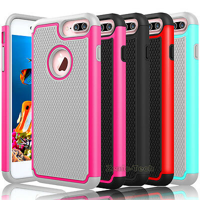 For iPhone 7/7 Plus/8/8 Plus Phone Case Shockproof Armor Hybrid Rubber Cover