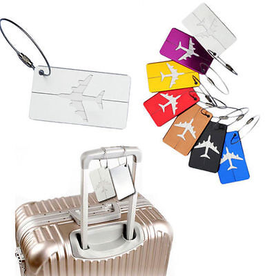 For Travel Aluminium Luggage Baggage Tag Suitcase Bag Label With Address Name US