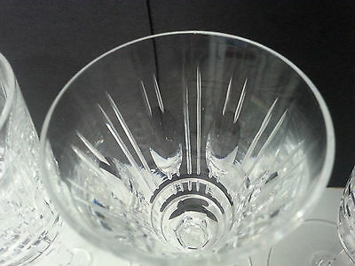 6 Rare Waterford crystal sherry glasses in the Deidre pattern