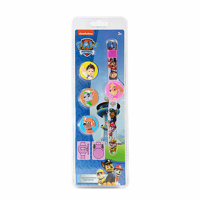 Paw Patrol Girls Pink Change Cover Watch  Skye  Vp37057