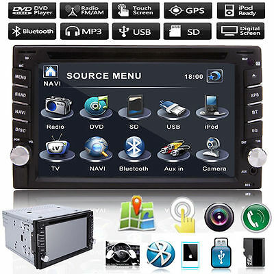 "GPS Navigation 6.2"" 2 Din Touch Car Radio Stereo DVD MP5 USB/TV Player Bluetooth"