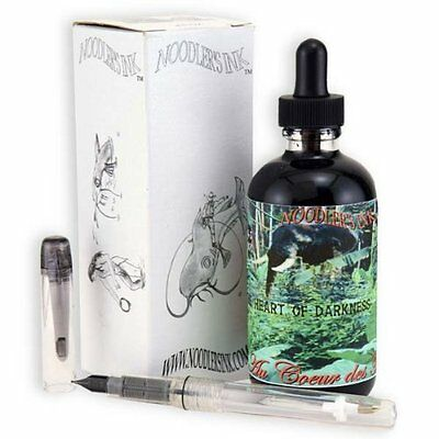 Noodlers Ink 4.5Oz Heart Of Darkness W/Pen
