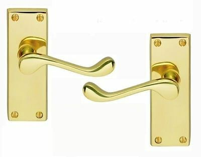 3 Pairs Victorian Scroll Handles In A Polished Brass Finish