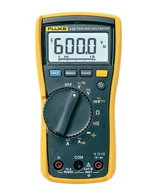 Fluke 115 Compact True-RMS Digital Multimeter, CAT III 600 V Safety Rated