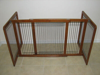 Crown Pet Products Freestanding Wood & Wire Pet Gate