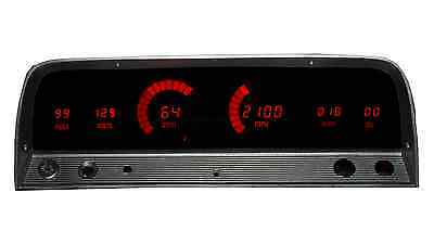 Chevy Truck DIGITAL DASH PANEL FOR 1964-1966 Gauges GMC Intellitronix RED LEDs!!
