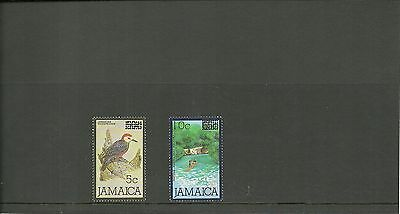 Jamaica Sg 662-663 1986 -Definitives Surcharged Mnh