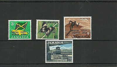 Jamaica Sg248-251 Royal Visit  Set Mnh