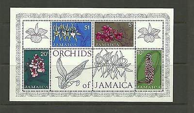 Jamaica Sgms379-Orchids Minisheet Mnh