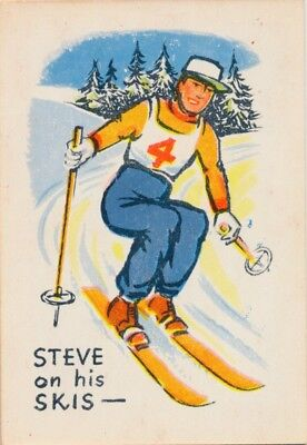 Vintage Single Game Swap Card: Steve on his Skis